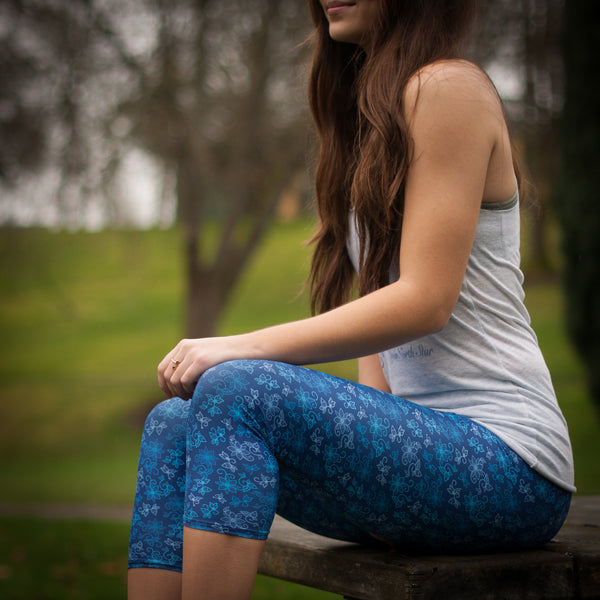 Azure Capri Leggings: Water Collection - Soul Curiosity