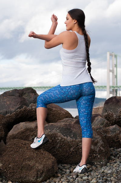 Native & Metis Capri Leggings: Water Collection - Soul Curiosity