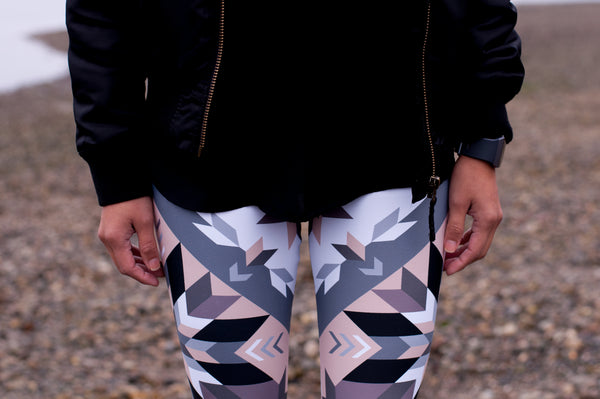 Authentic Native & Metis Geometric Floral Leggings: Air Collection - Soul Curiosity