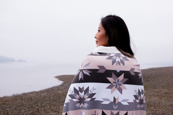 Fleece Star Floral Sherpa Blanket: Air Collection - Soul Curiosity