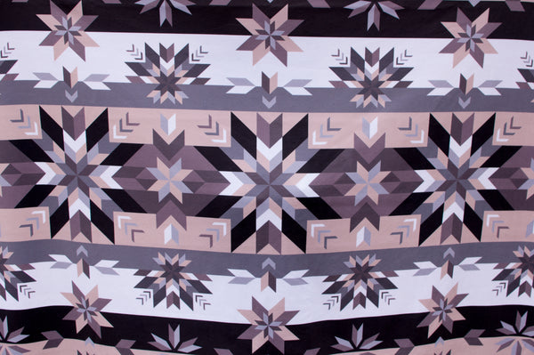 Authentic Native & Metis Star Floral Sherpa Blanket: Air Collection - Soul Curiosity