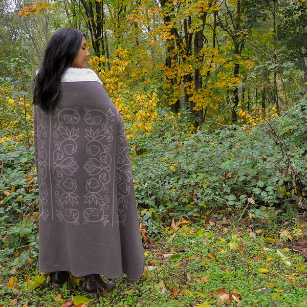 Native & Metis Brown Sherpa Blanket: Wedding Collection - Soul Curiosity