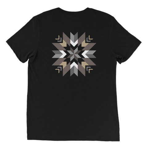 Authentic Native & Metis Unisex Tri-blend Star Floral Tee: Air Collection - Soul Curiosity