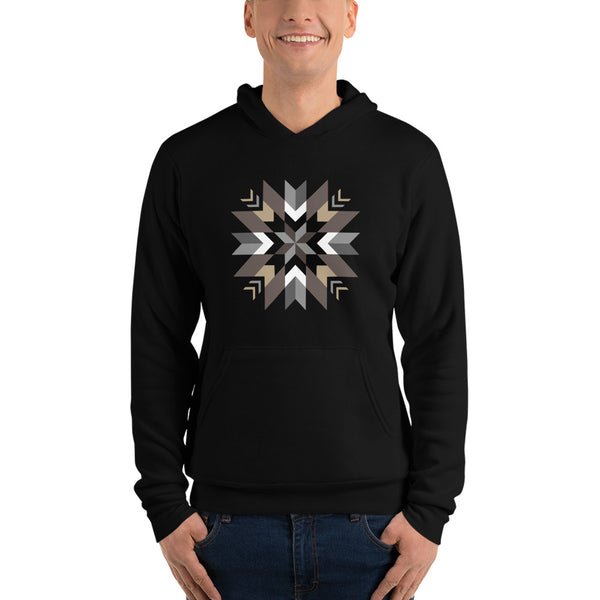 Authentic Native & Metis Unisex Cotton/Fleece Pullover Geometric Floral Hoodie: Air Collection - Soul Curiosity