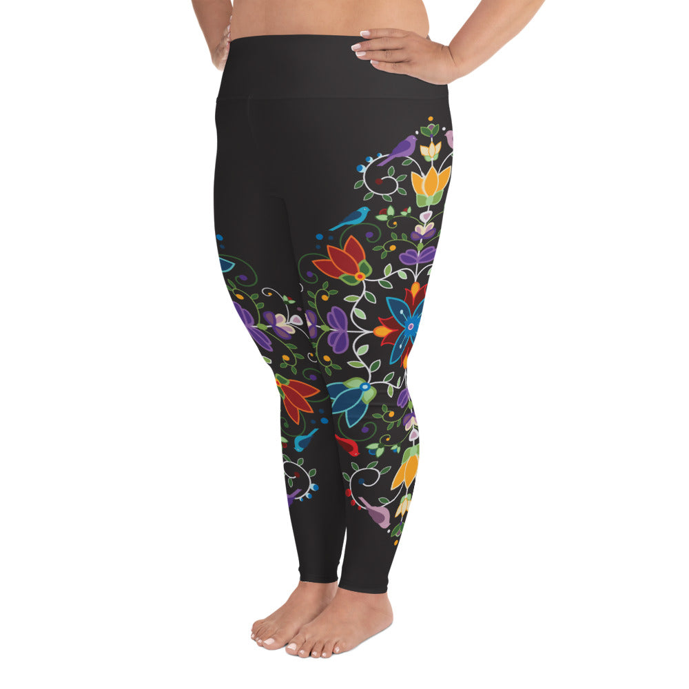 Native & Metis Curvy Leggings | Fire & Ice Collection