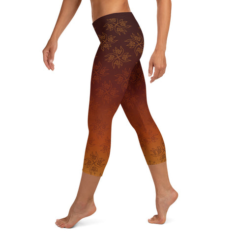 Authentic Native & Metis Capri Leggings: Fire Collection - Soul Curiosity