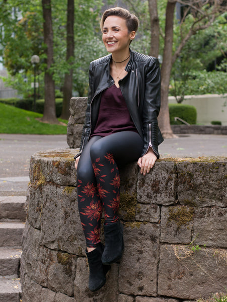 Authentic Native & Metis Leggings: Fire Collection - Soul Curiosity