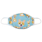 Corgi Kids Reversible Face Mask