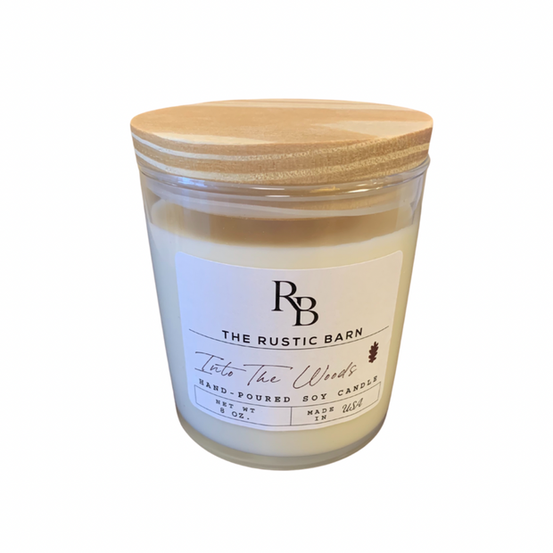 Into the Woods Rustic Barn 8 oz Candle