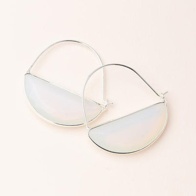 Scout Curated Wears Stone Prism Hoop - Opalite
