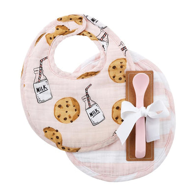Cookies & Milk Bib Set - Pink