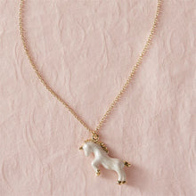 Mudpie White Unicorn Necklace