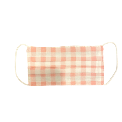 Pink Gingham Kids Mask