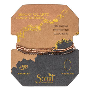Scout Curated Wears Delicate Stone Wrap- Smoky Quartz