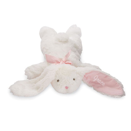 Personalized Mudpie Pink Floppy Velour Plush Bunny