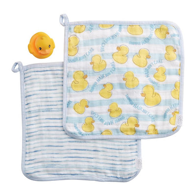 Washcloth & Ducky Set - Blue