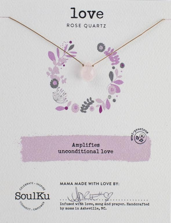 Soulku - Soul-Full Necklace Rose Quartz - Love