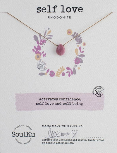 Soulku - Soul-Full Necklace Rhodonite - Self Love
