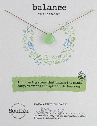 Soulku - Love Necklace Chalcedony - Balance
