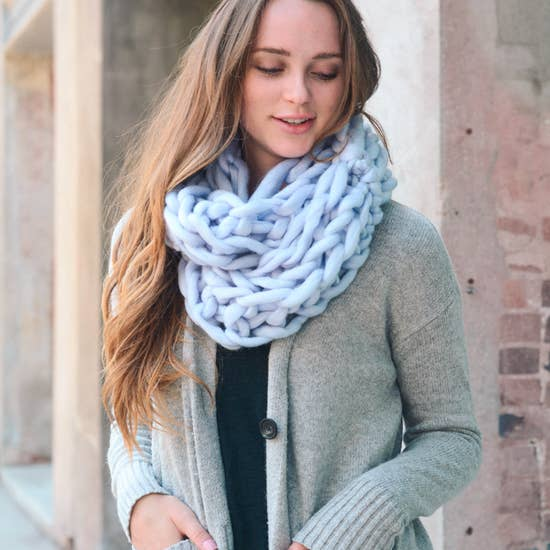 Kate Knit Infinity Scarf