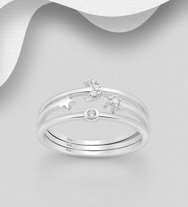 Celestial Stacking Ring Set