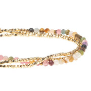 Scout Curated Wears Delicate Stone Wrap- Tourmaline/Gold