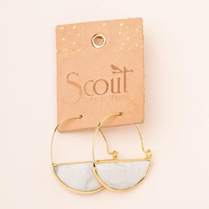 Scout Curated Wears Stone Prism Hoop - Lapis/Silver