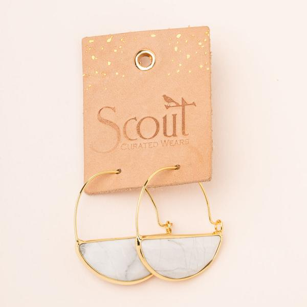 Scout Curated Wears Stone Prism Hoop - Turquoise/Gold