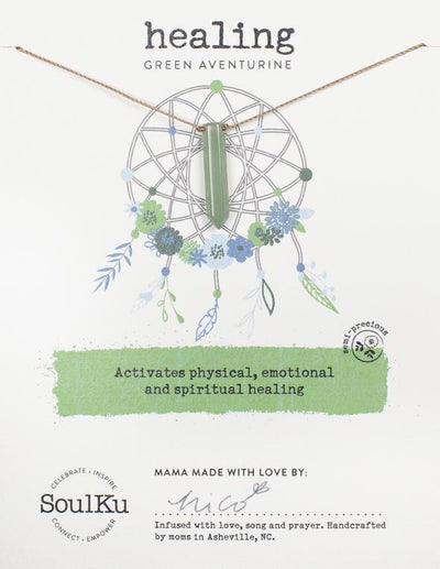 Soulku Adventurine Dream Catcher Necklace for Healing