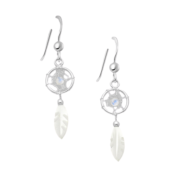 Moonstone Dream Catcher Dangles