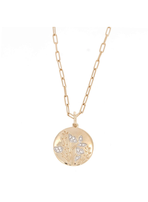 In Full Bloom Pave Diamond Necklace
