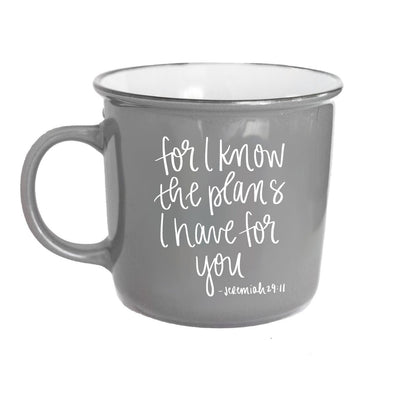 For I Know The Plans Jeremiah 29:11 Scripture Campfire Mug