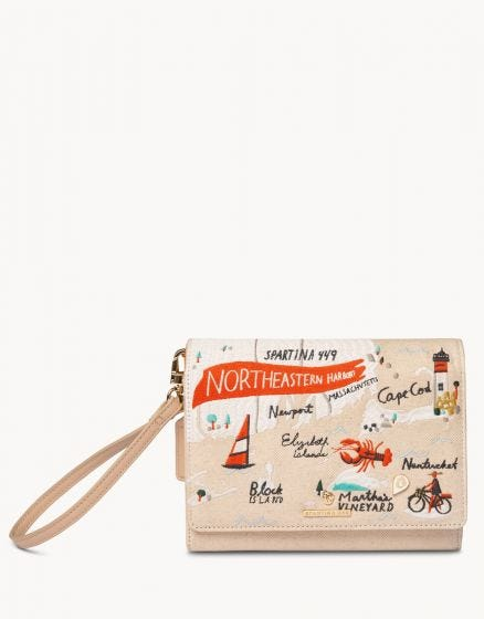Embroidered Convertible Crossbody Northeastern Harbors