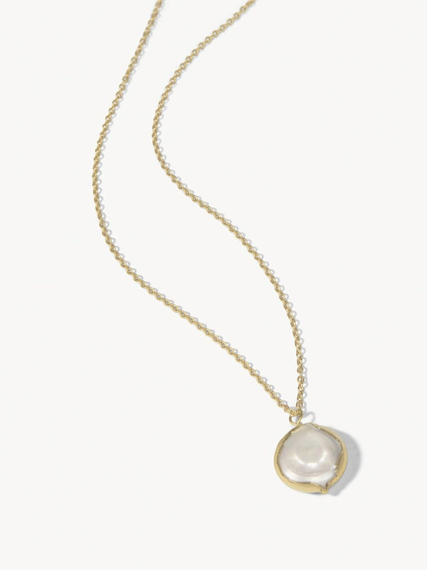 Coin Pearl Petite Necklace