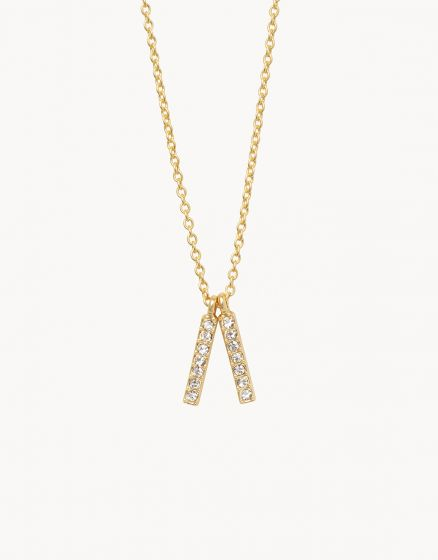 Lean On Me Double Bar Necklace