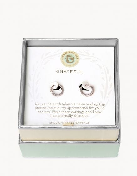 Sea La Vie Grateful Hoop Earrings