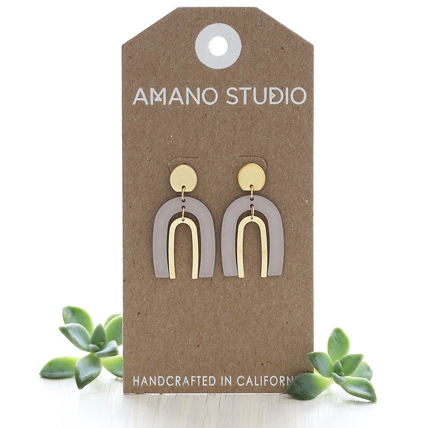 Arches Taupe Earrings