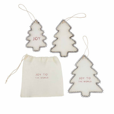 Wire and Cloth Tree Ornament Set