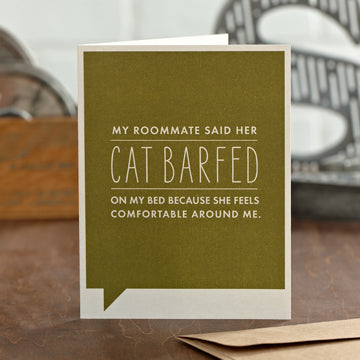 """My Roommate Said Her Cat"" Funny Friendship Card"