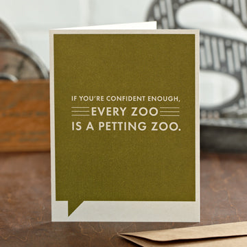 """If You're Confident Enough"" Funny Encouragement Card"