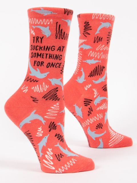 Try Sucking at Something Women's Crew Socks