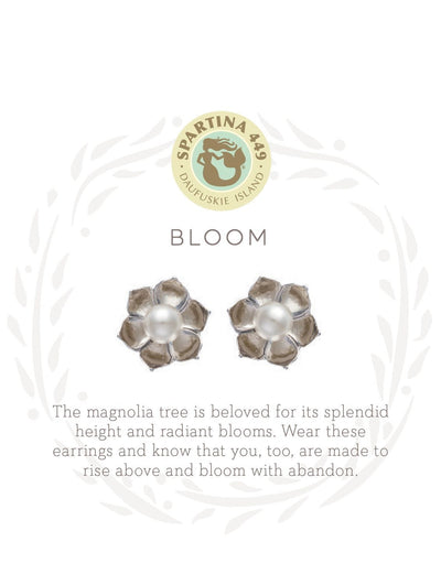 Bloom Magnolia Flower Stud Earrings