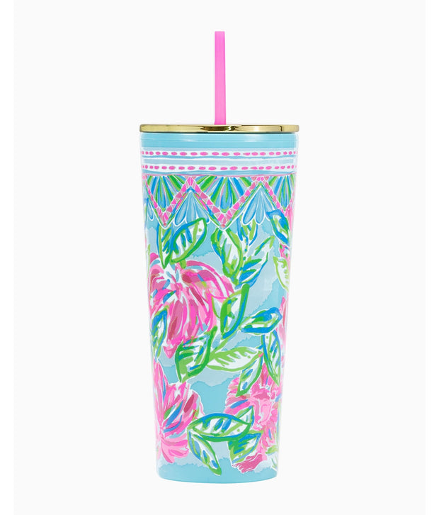Tumbler in Multi Totally Blossom