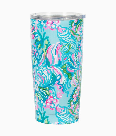 Stainless Steel Tumbler in Blue Ibiza Aqua La Vista
