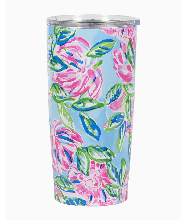 Stainless Steel Tumbler in Multi Totally Blossom