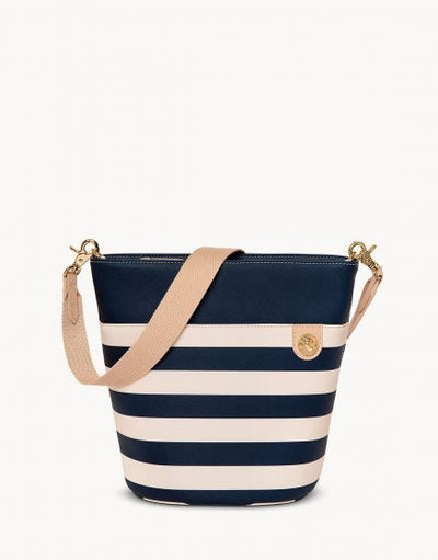 Newport Bucket Bag Navy Stripe