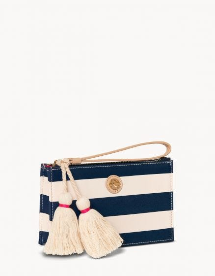 Emmy Wristlet Navy Stripe