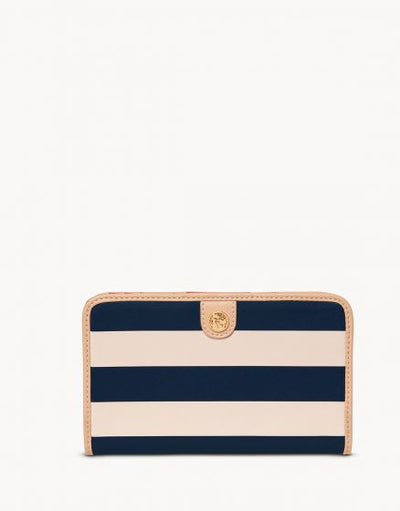 Snap Wallet Navy Stripe