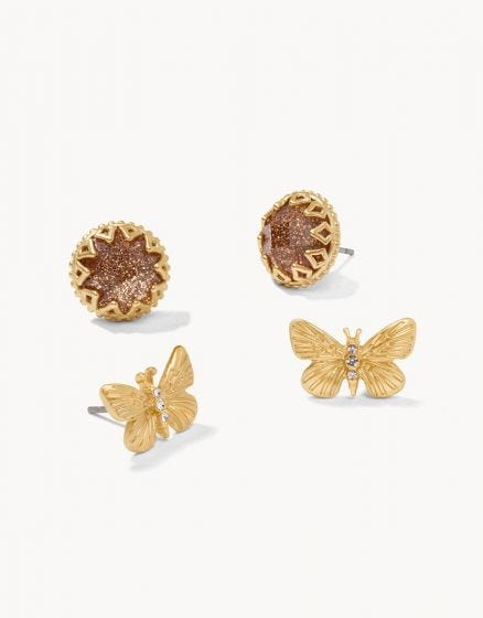 Monarch Stud Earrings Set