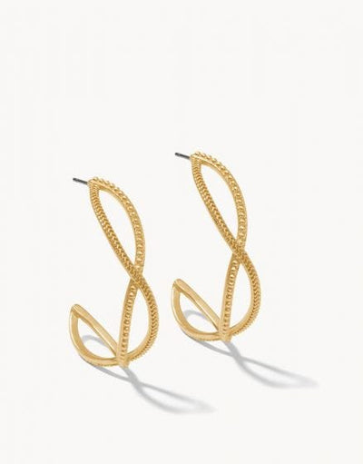 Harbor Wave Hoop Earrings